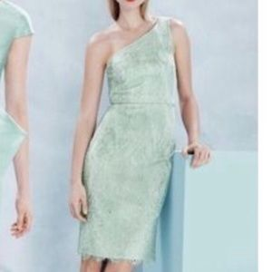NWT J.Crew shimmering lace mint green lace dress